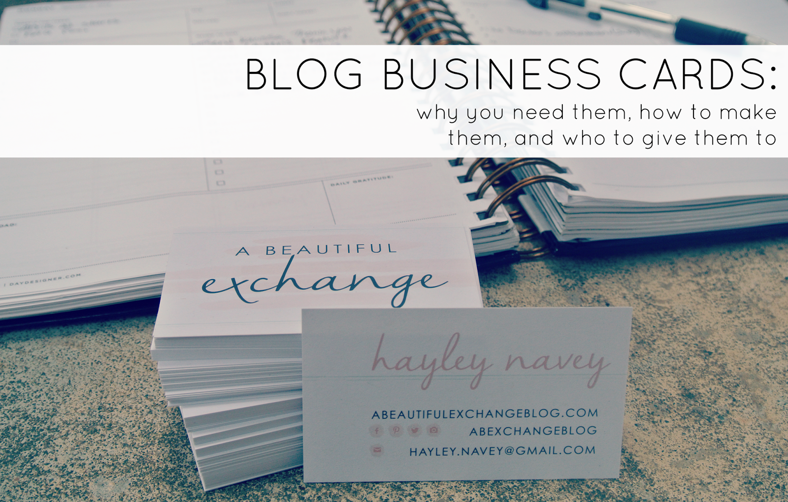 Blog Business Cards: Why, How, and Who