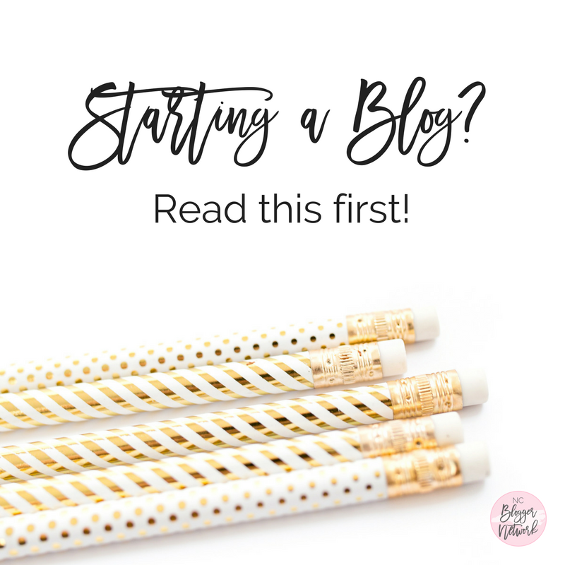 Starting a Blog? Read this First!