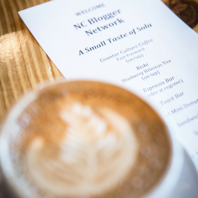 NCBN Blogger Event and Tasting Buffet at Sola Coffee