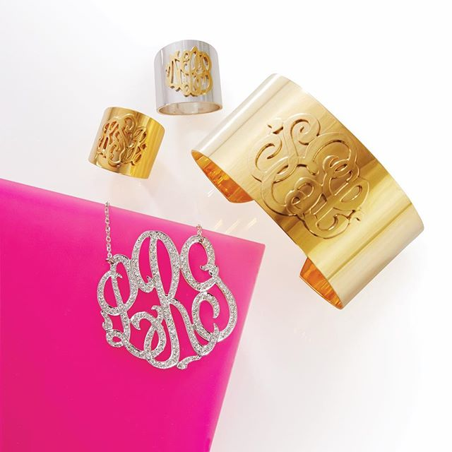 Moon and Lola Monogrammed Jewelry